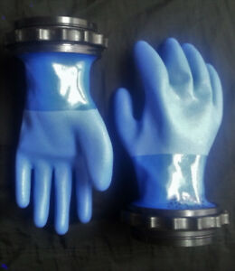 dry gloves and quick clamp set- set de gants étanches de drysuit