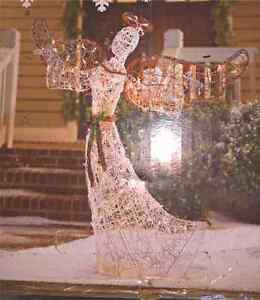 5' x 4' Christmas Angel Lighted Lawn Ornament (2)