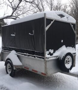 Aluminum Trailer - 5 x 10 with enclosure - make an offer