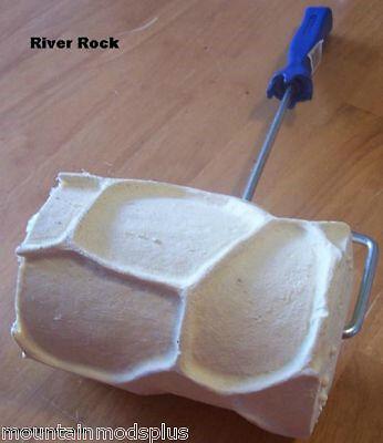 Concrete Cement Landscape Curbing River Stone texture Imprint Roller Stamp New