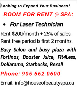 2 ROOMS FOR RENT AT BEAUTY SPA