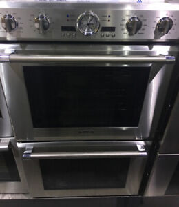 "30"" Thermador rotisserie double wall oven ss $6500! SS as tor*"