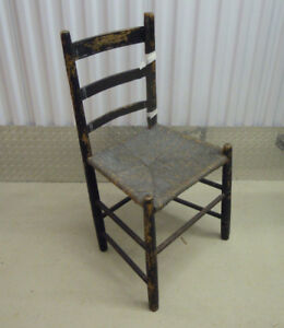 Antique Ladder Back Chair From 1800s – Reduced Price NOW $ 19.00