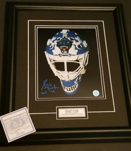 Grant Fuhr Signed Framed Maple Leafs Mask Photo
