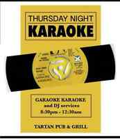 KARAOKE EVERY THURSDAY - TARTAN PUB AND GRILL , ORLEANS !!!