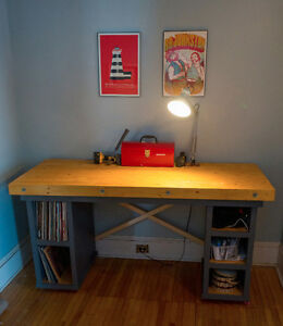 Sturdy handmade desk/workbench.