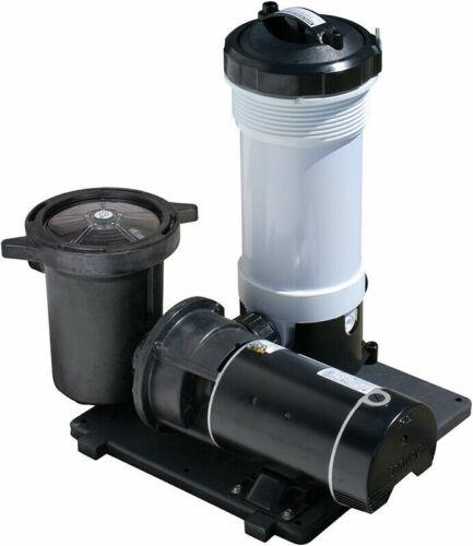 Waterway TWM Above Ground Swimming Pool Cartridge Filter w/ 1 HP E-Series Pump