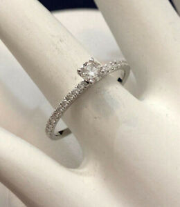 18k white gold diamond engagement /promise ring^Priced Lowest !
