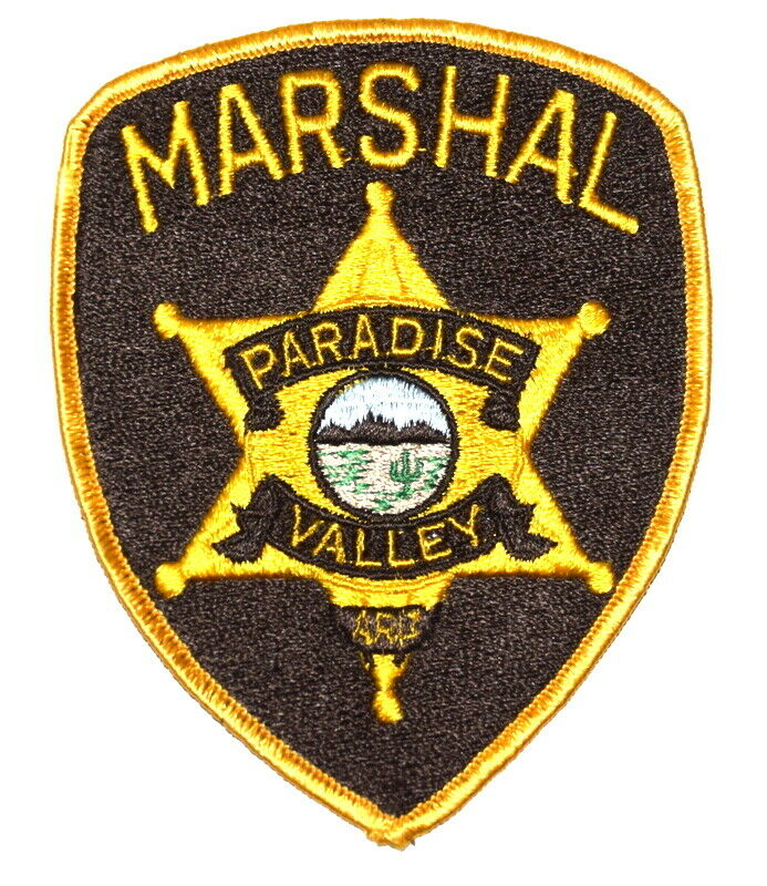 PARADISE VALLEY – MARSHAL - ARIZONA AZ Sheriff Police Patch GOLD STAR SEAL USED