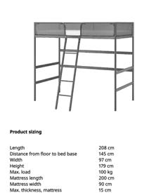Ikea tuffing loft bed