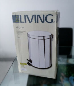 Step Can Bin - High Quality Stainless Steel (NEW in box)