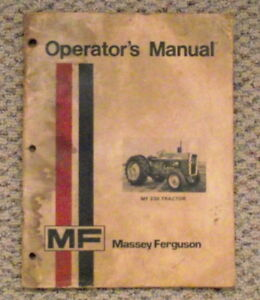 MF 235 tractor  Operators Manual-- $8.00 London Ontario image 1