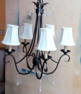 5 light chandelier / $90.00