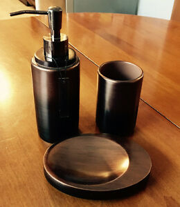 Brand NEW soap dispenser, soap dish, and tumbler set