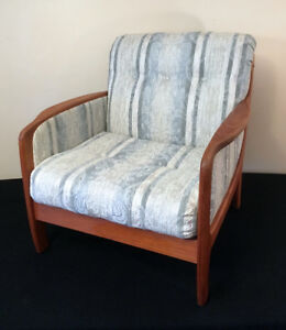 DELIVERY Mid Century Modern TEAK Couch &  Chair Set SEE VIDEO