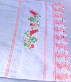 Soft towels|Set of x2 Turkish Towels | Tulip Flower | Crochet Pattern
