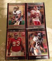 4 2007 Bowman Chrome Football Rookie Cards - 2 Black
