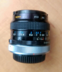 Kiron 24mm f/2.0 lens in Canon FD mount