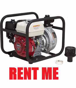 2 INCH WATER PUMP FOR RENT