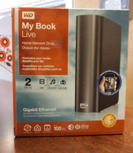 WD My Book Live 2TB Personal Cloud Storage NAS Share - brand new