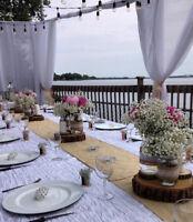 Offre de services comme décoratrice et installatrice de mariage