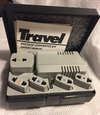 Deluxe Voltage Converter (RECOTON ADF1650 TRAVEL DELUXE VOLTAGE CONVERTER KIT COMPLETE IN BOX)