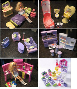 Dollhouse Furniture 6 complete rooms for doll house