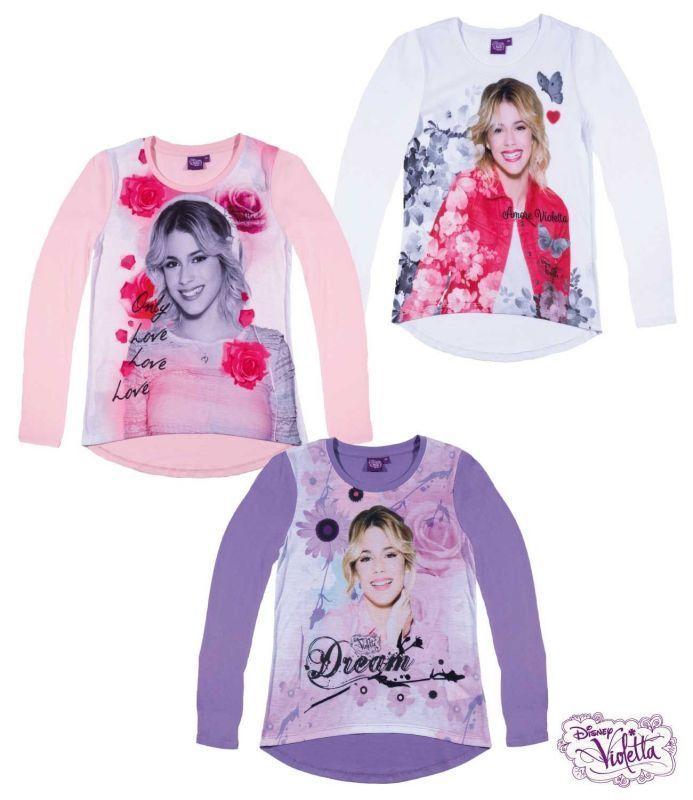 Violetta Pullover Gr 128 - 152 Mädchen Pulli Shirt langarm rosa lila Tini Disney