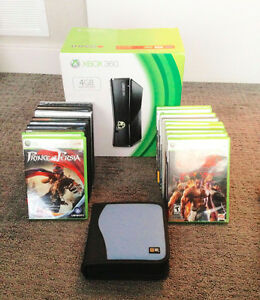 BRAND NEW XBOX 360 & 25 used games