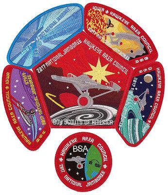 2017 Boy Scout Jamboree Hawkeye Area Council Star Trek JSP CSP Patch Set Lot BSA