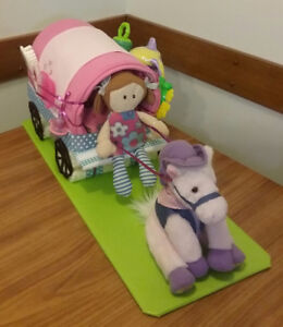 HORSE AND WAGON BABY SHOWER GIFT