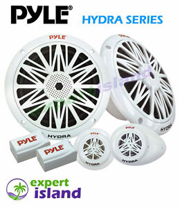 "PYLE  6.5"" Dual Marine Speaker System w/Tweeters and Crossovers"