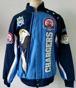 San Diego Chargers 50th anniversary canvas jacket mens L