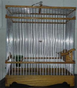 Cage en bois d'olivier pour chardonneret ou mulet