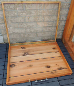 Vtg Portable Table Top Display Tradeshow Case, Solid Wood