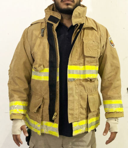 Fire-Dex Tan Structural Turnout Coats Pre-Owned Fire Jackets