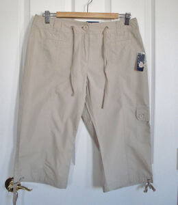 Women's Light Tan Cargo Capris - brand new with tags