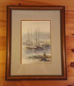 Sailboats  Carol Sebold 1939 - 2010 - Original Watercolor