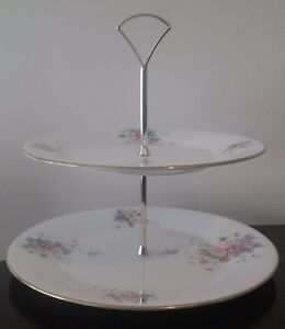 Royal Doulton '85 'SUMMER BOUQUET' CAKE STAND