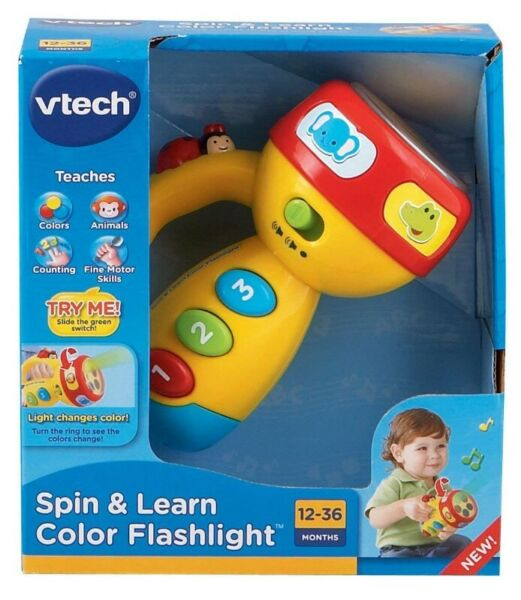 BNIB: VTech Spin and Learn Color Flashlight