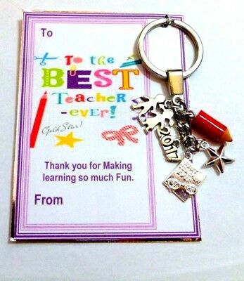 Thank you Gift for Best Ever Teacher 2019 End of School Term on Gift card