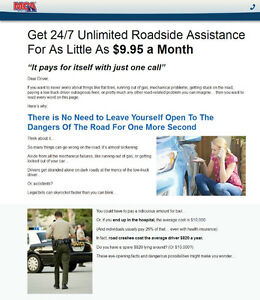 Unlimited 24/7 Emergancy Roadside For As Low As $9.95/Month