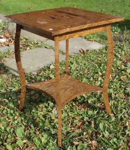 Square Solid Wood Parlour Table With Bottom Shelf