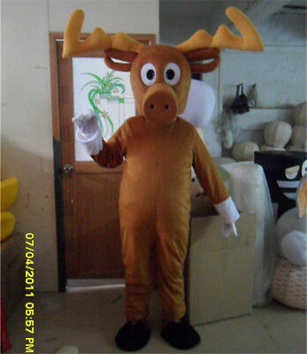 NEWLY Deer Mascot Costume Reindeer Party Dress Outfit Cosplay Christmas Animals - Deer Costume Outfit