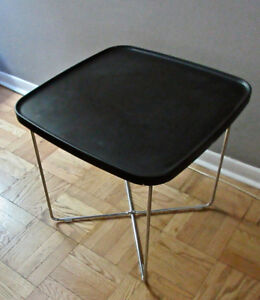 InDesign modern wenge and stainless side table