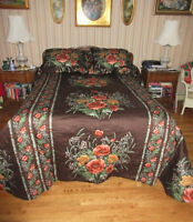 Beautiful Floral Bedspread - For a Double Bed