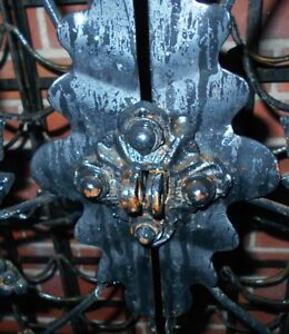 Hand Forged Antique  72 Bottle Wrought Iron Wine Cabinet