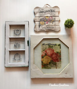 Farmhouse Rustic hanging pictures (x3)