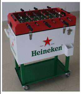 Foosball Table and Cooler