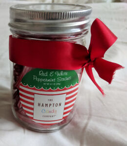 Red & White Peppermint Straws from The Hampton Candy Company